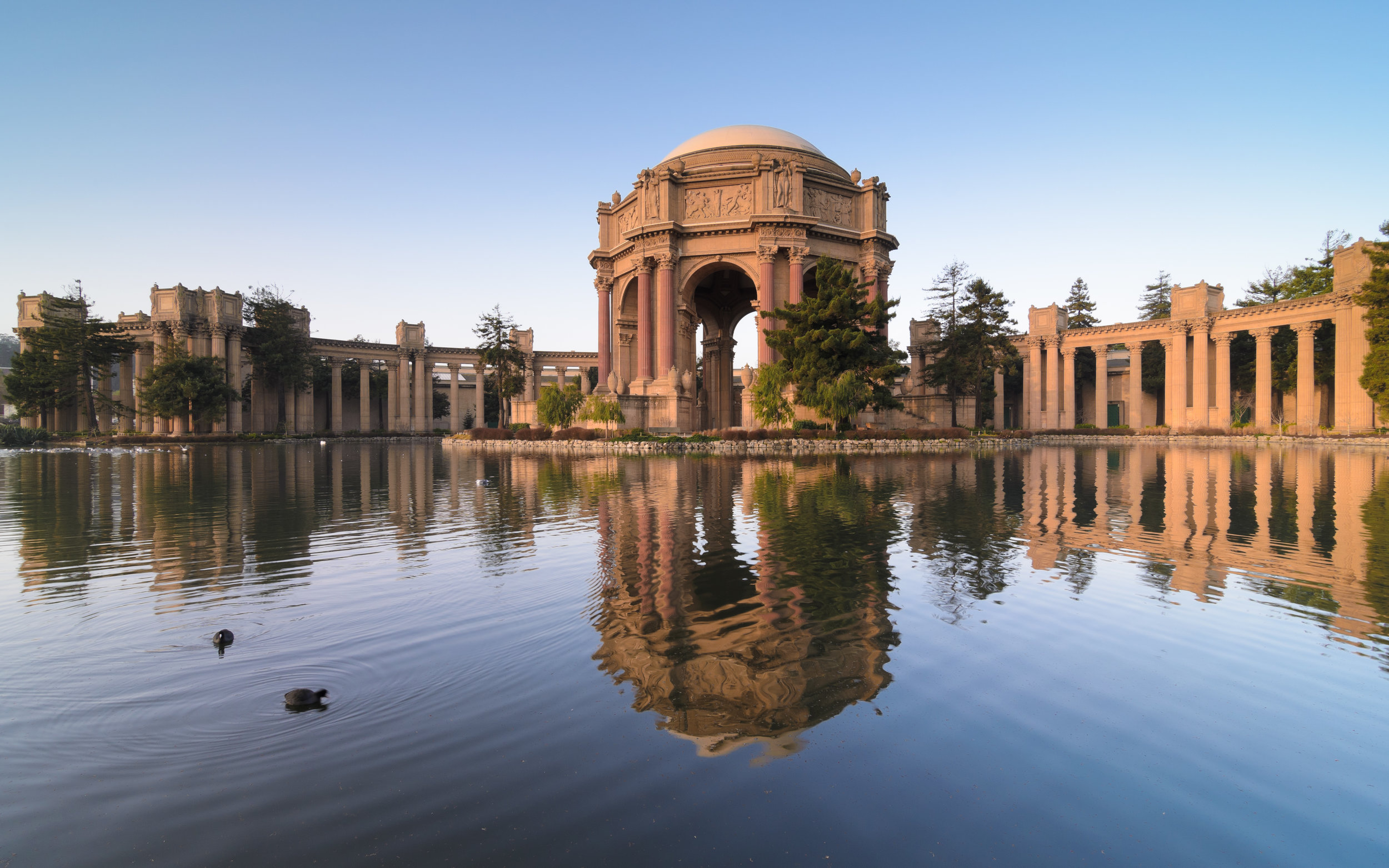 Palace of Fine Arts in San Francisco. Designed by architect, Bernard Maybeck.