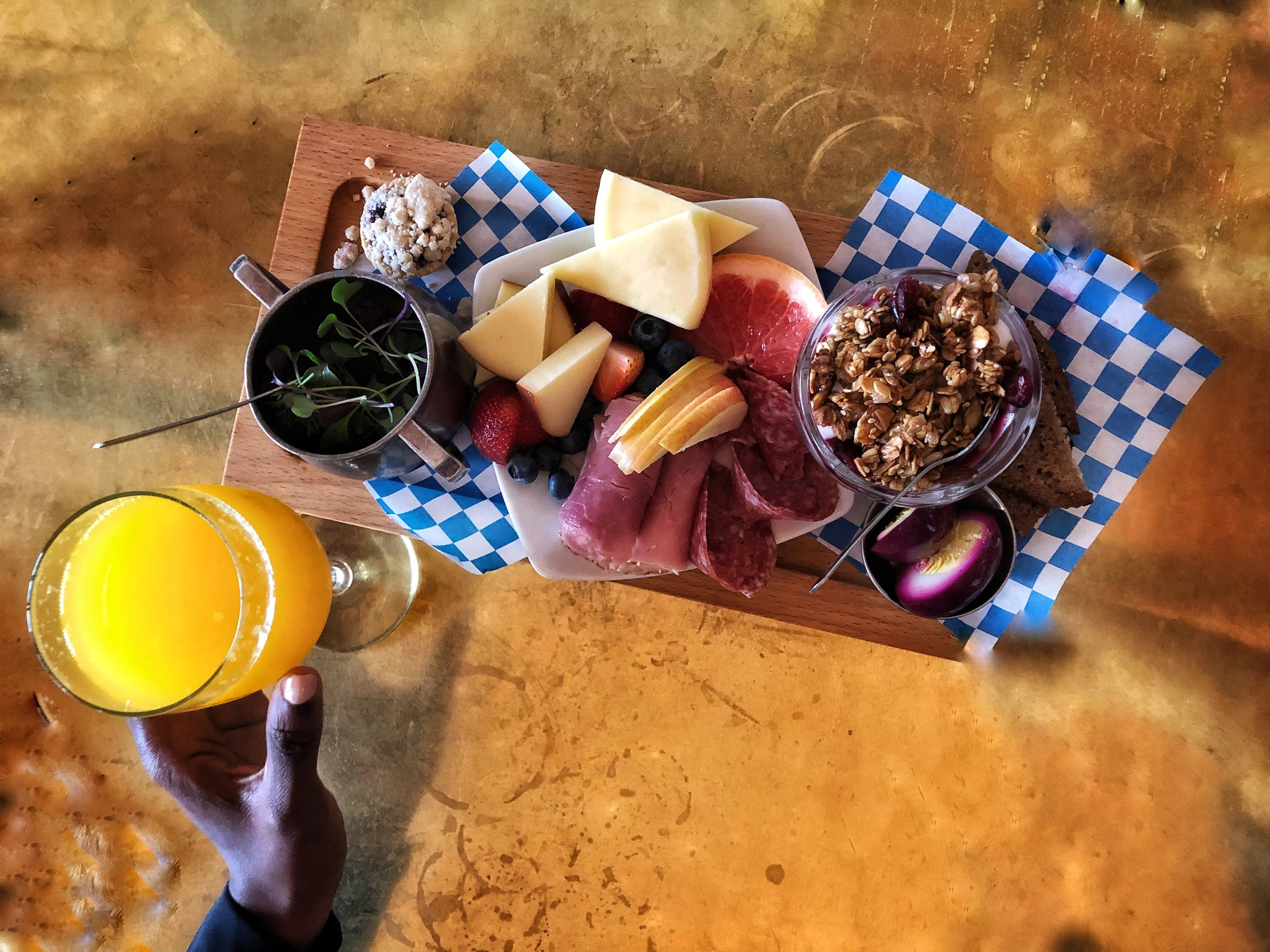 The cheese plate at Nord Broder is amazing. Shout-out to our friend for introducing us to this spot and hanging with us. They have three or four different locations across the city.