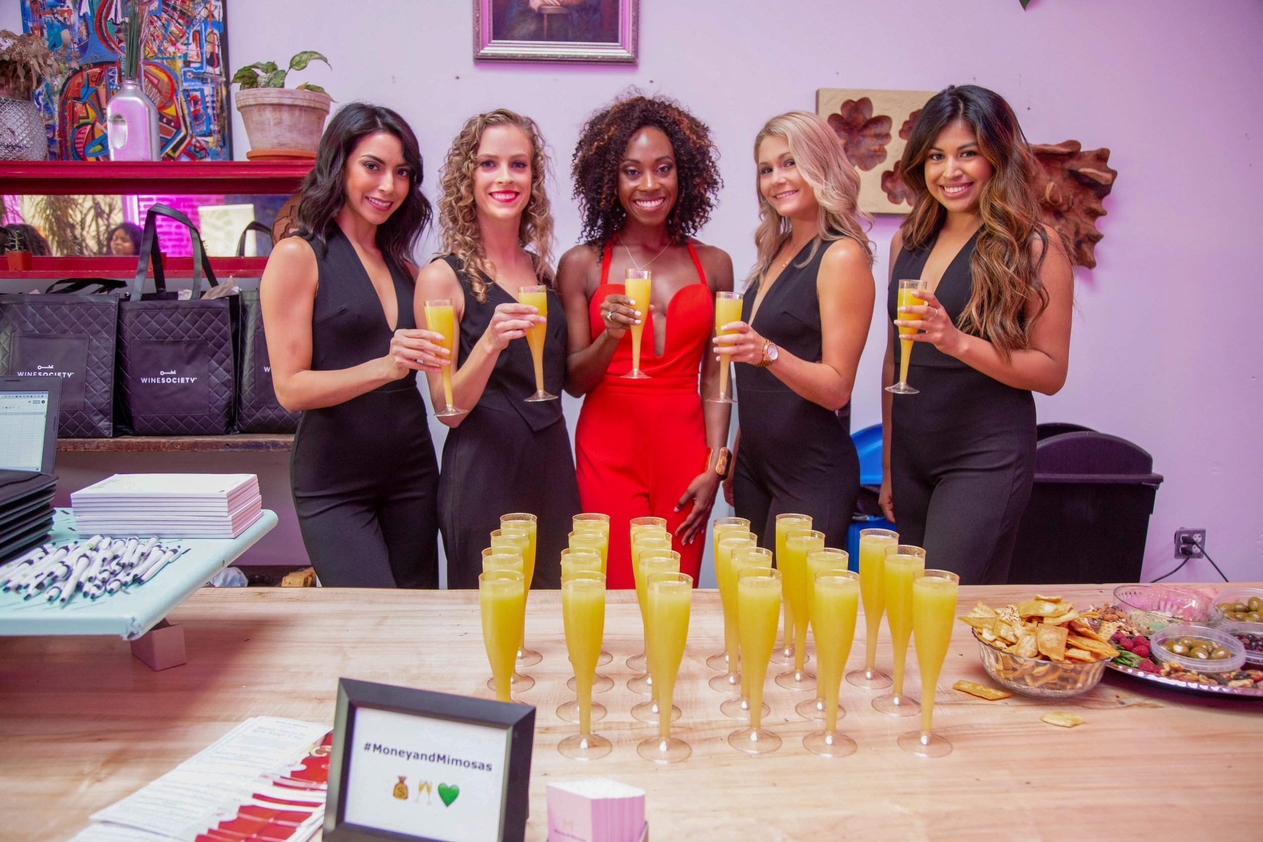 Curls Night Out with Money & Mimosas