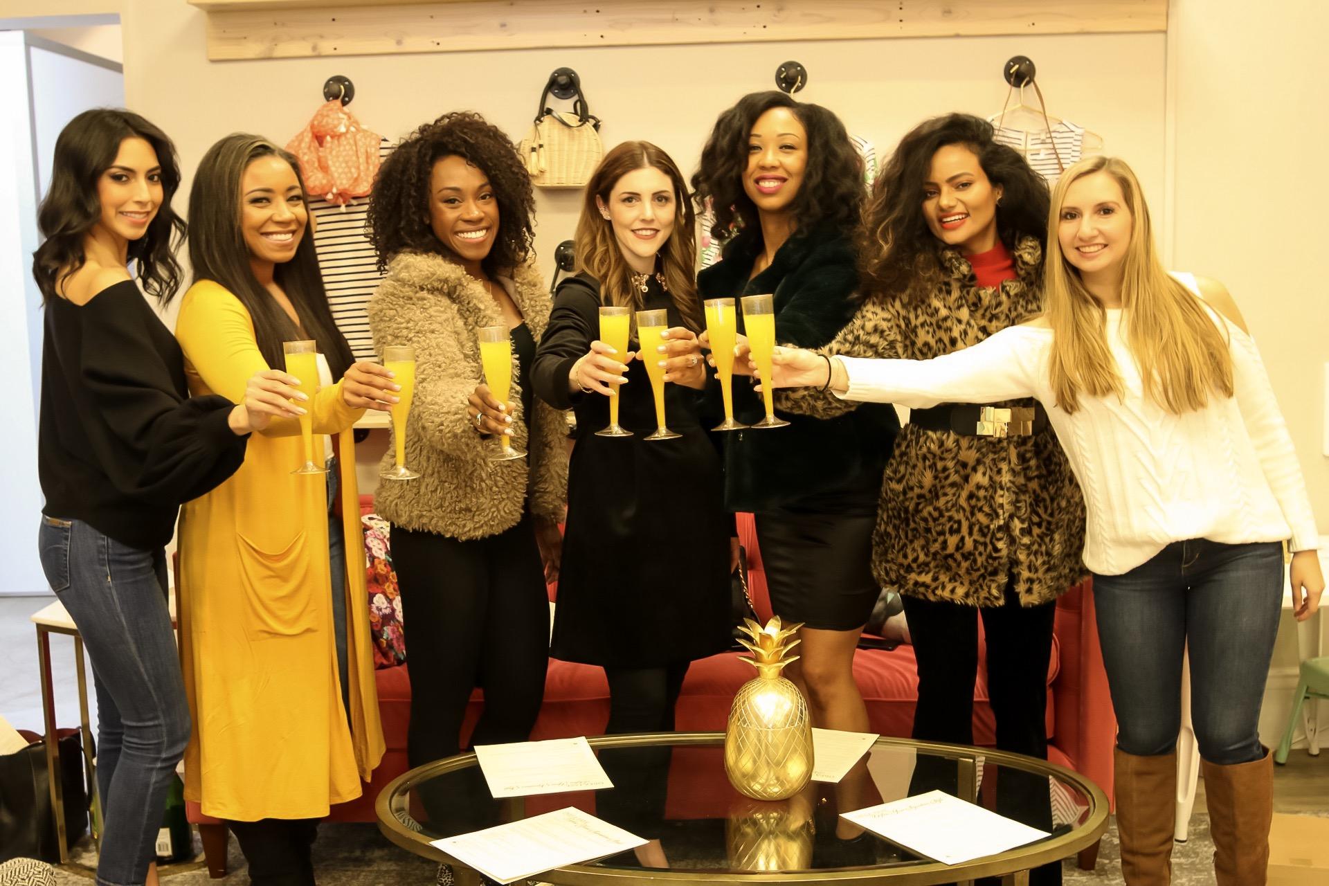 Pictured (L-R): Alejandra, Alexis, Danetha, Andrea, Vanita, Shalini, Lauren