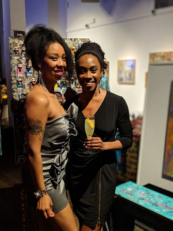 Me and Vanita at her art showing.