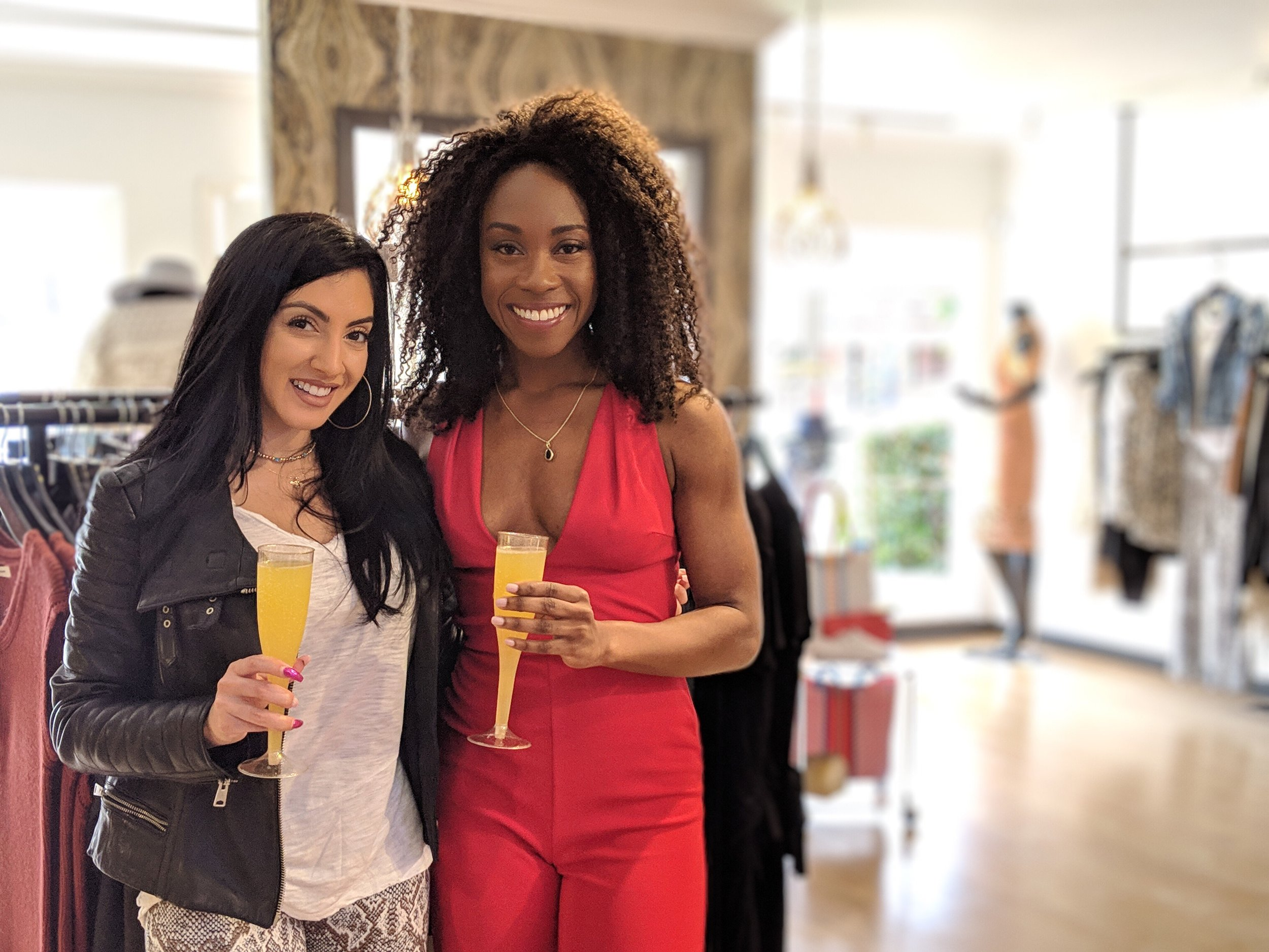Me with Natalia, the owner of Stone Cold Luxe- a lifestyle boutique in Danville, CA.