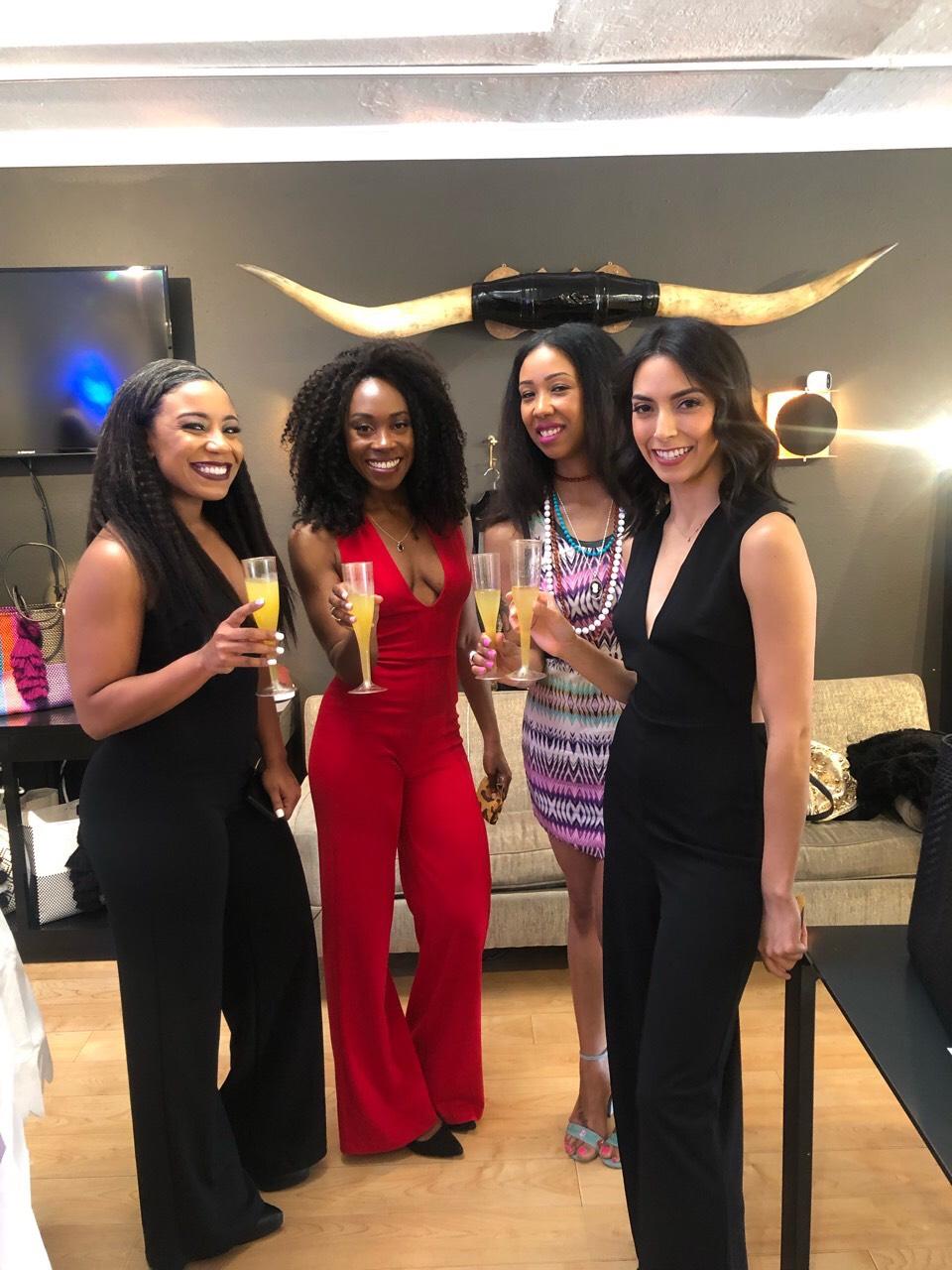 Socialites (L-R): Alexis, Danetha, Vanita, Alejandra