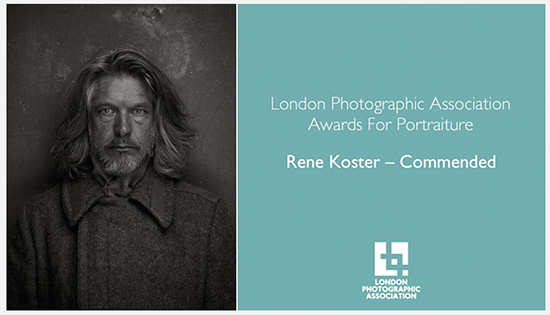 Very proud to be commended by the London Photographic Association for the Let's Face It 10 Portraiture Award. Winning series of five portraits from the 1900 project.