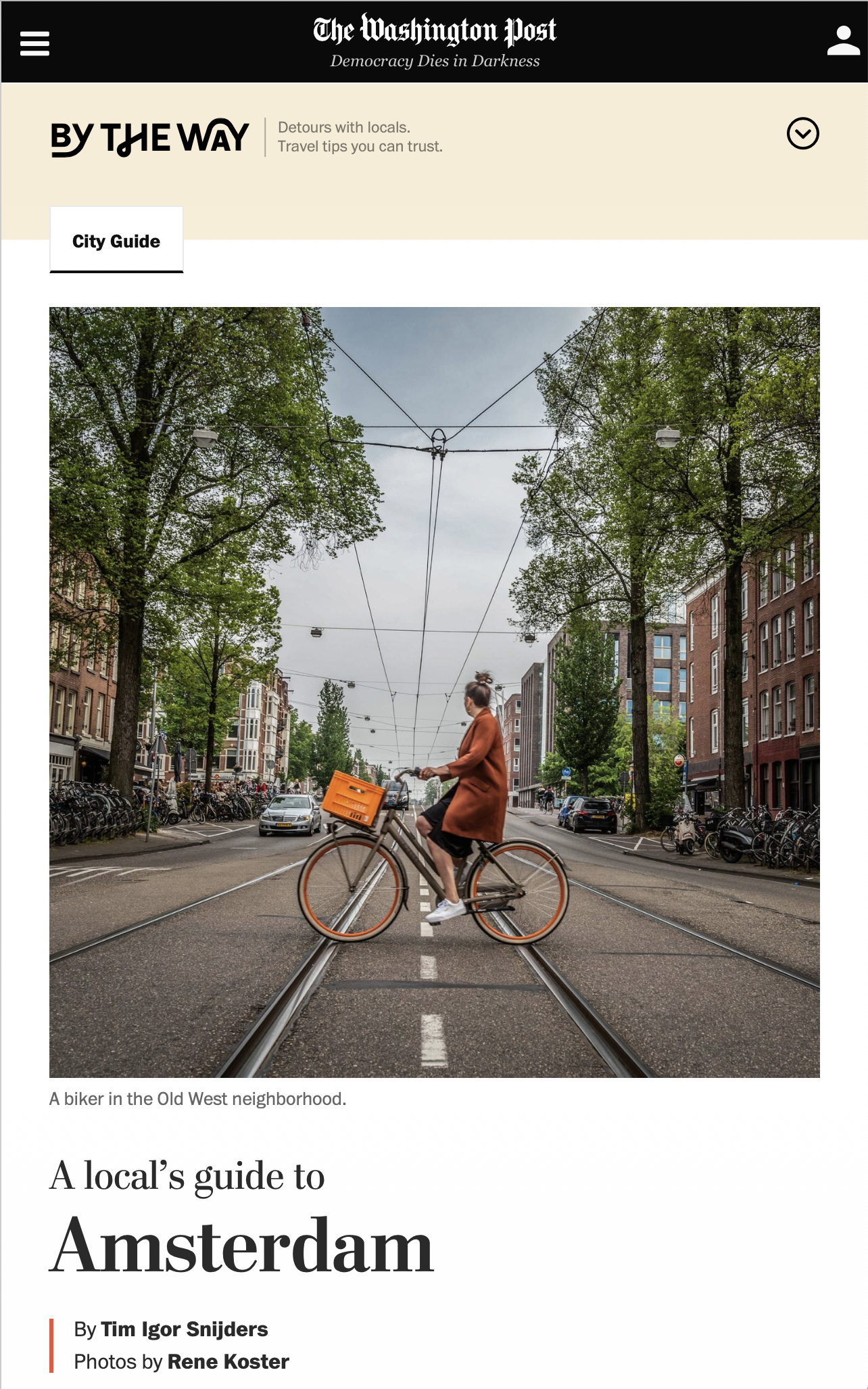 Introducing @bytheway, a new travel site from the @washingtonpost. If you're looking for a local's perspective, I've got you covered for Amsterdam.   The Washingtonpost.com