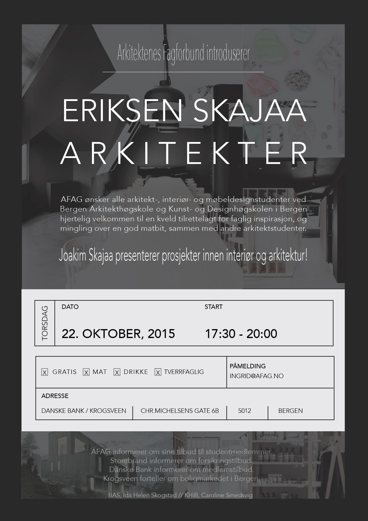 Invitasjon jeg har laget til arrangement som skal holdes 22.Oktober for studentene i Bergen.