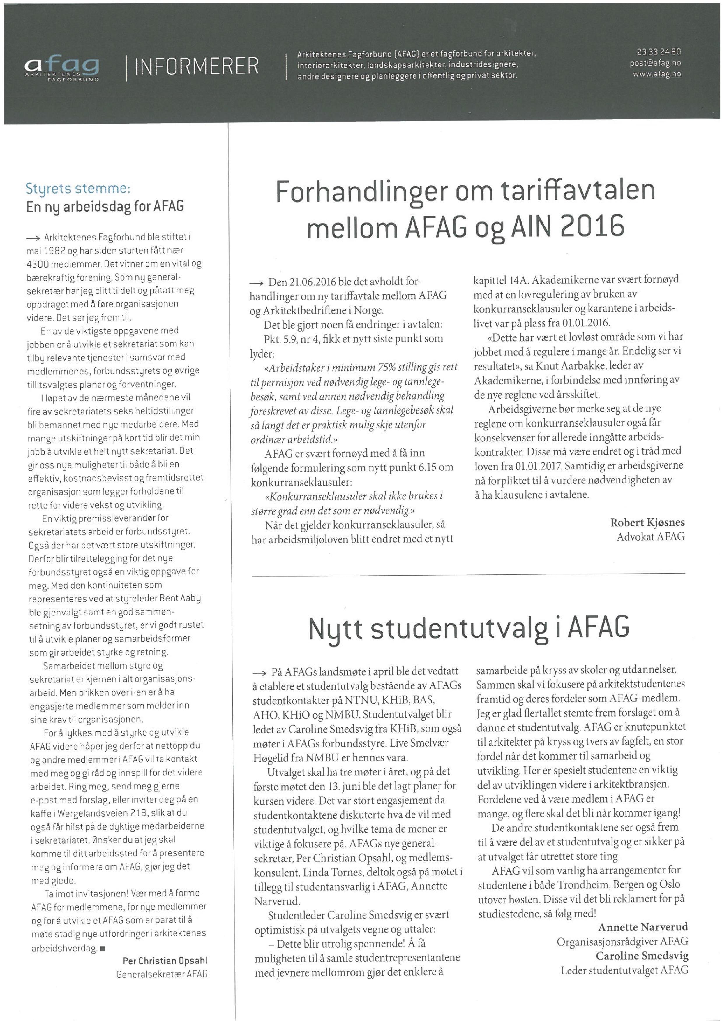 arkitektnytt arkitektenes fagforbund AFAG