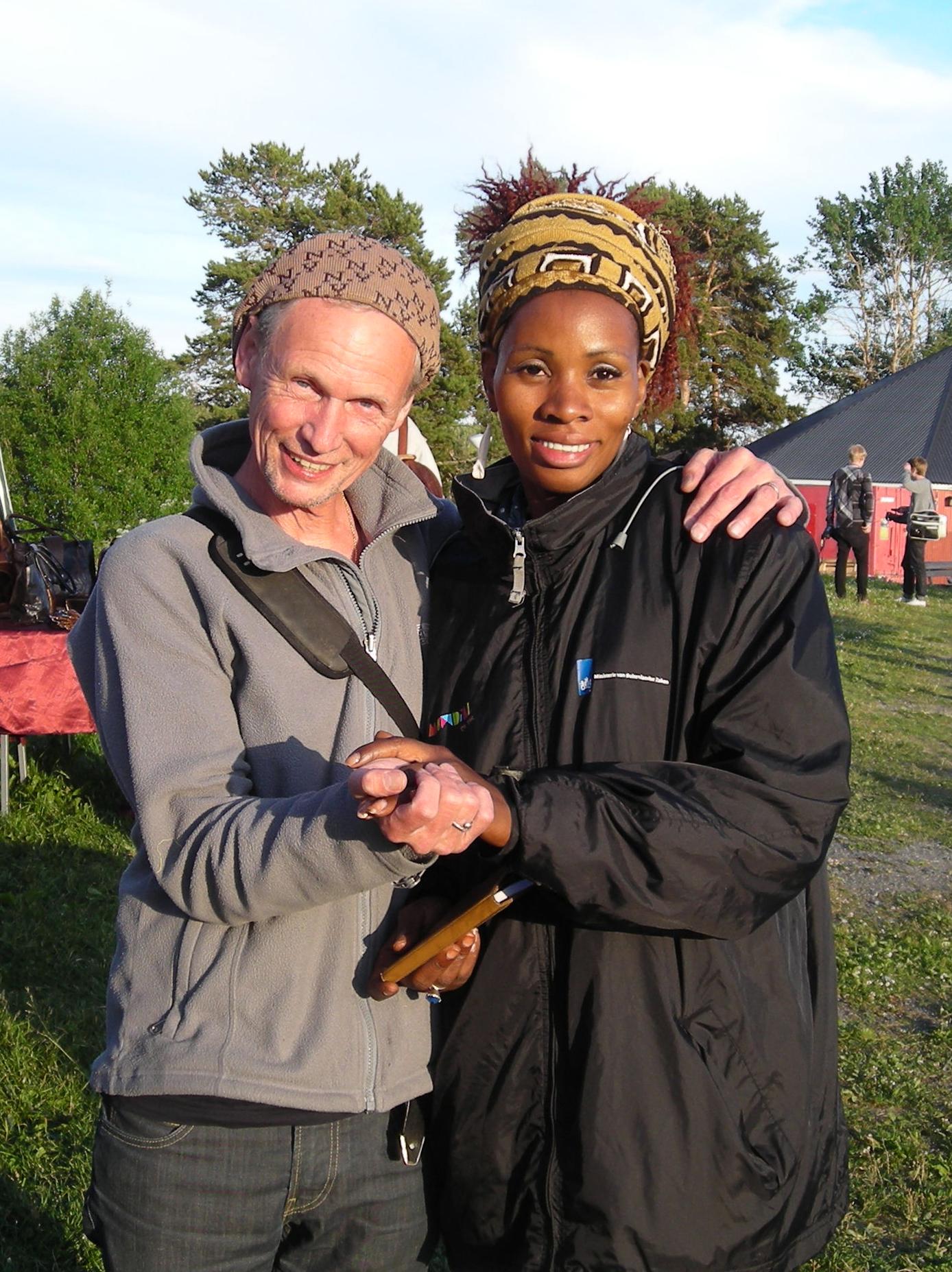 MaliHåkan and MaliSadio (Sidibe) at the Sweden/Mali voices festival, Fröjdholmen 2010