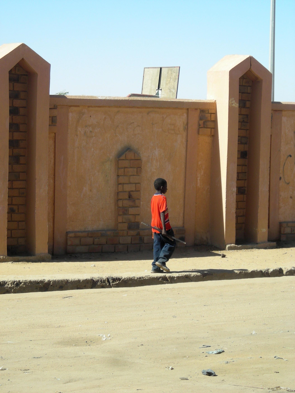 Boy outside the Stadium in Gao,Jan2010.
