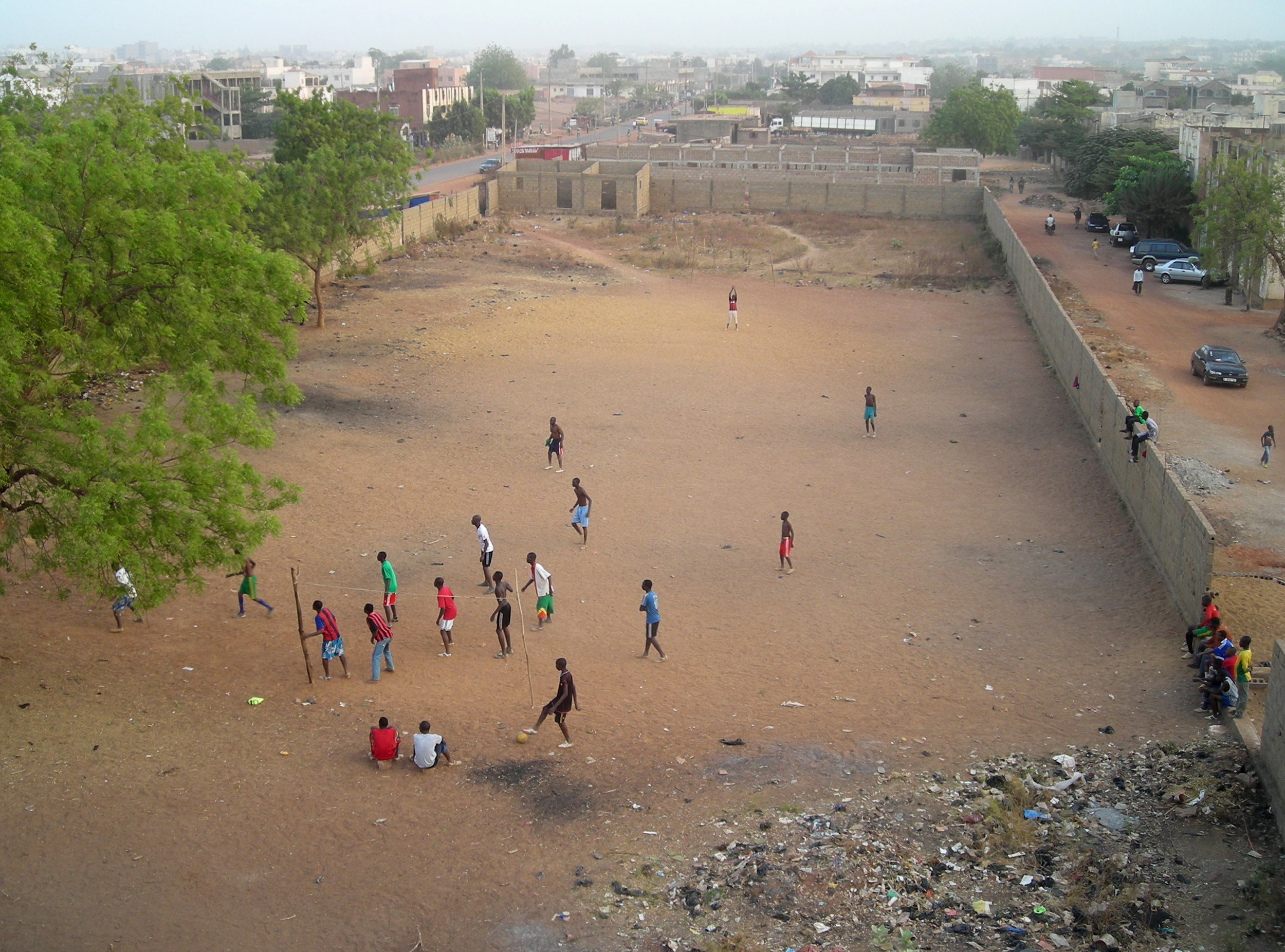 Football in Bamako, dec 2010.