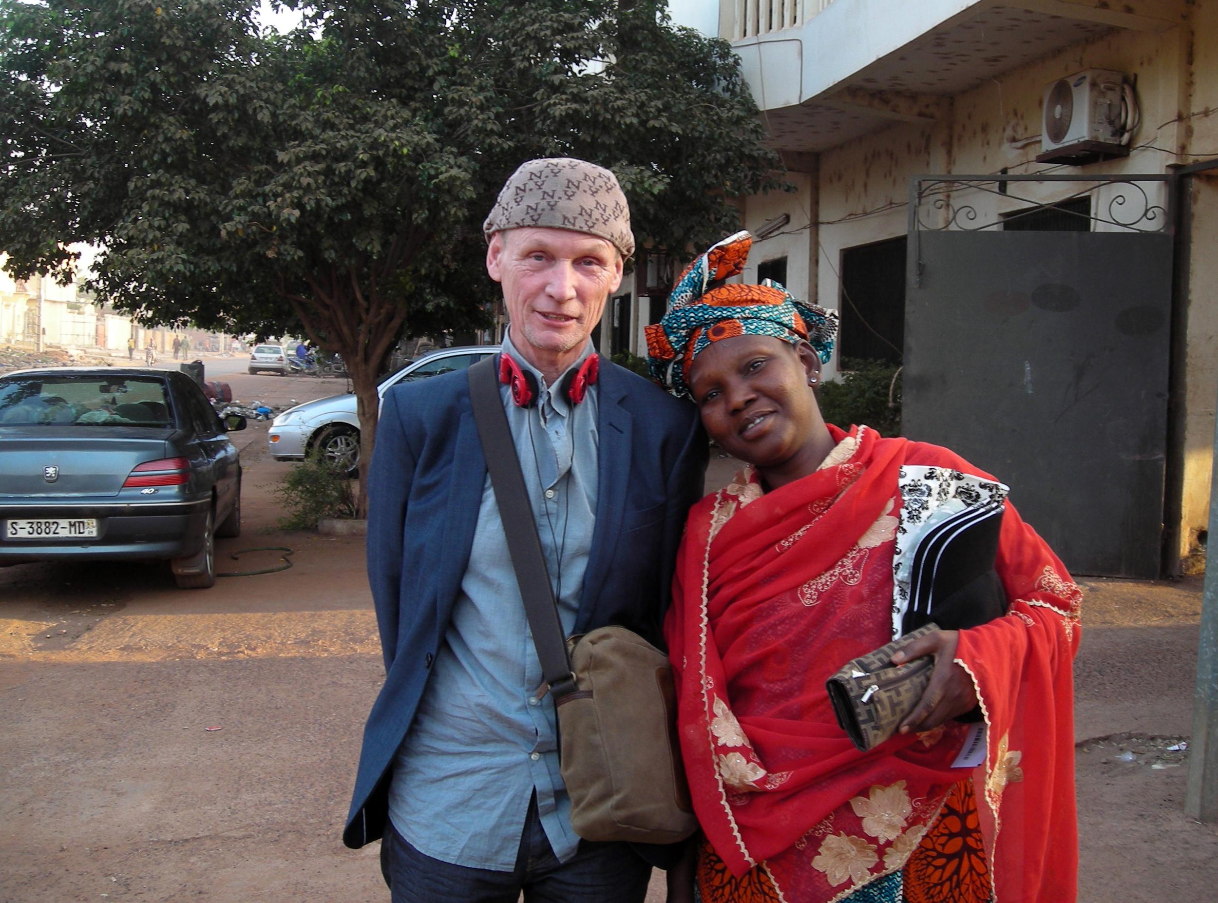 Me and my sister Fafa in Bamako, Dec 2013.