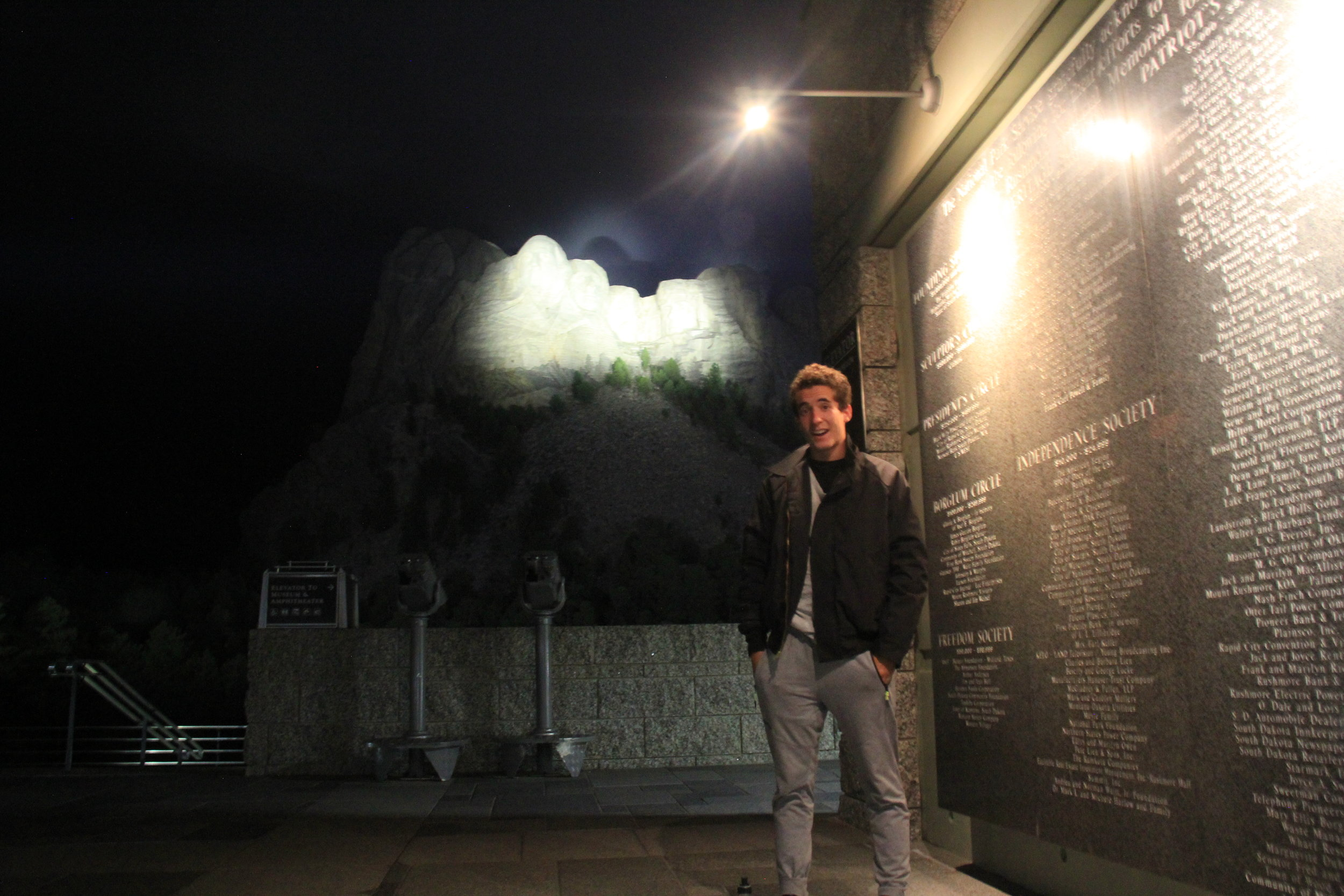 I thought Mt. Rushmore would be boring at midnight, but it was anything but. No tourists, just me, Drew and the four presidents.