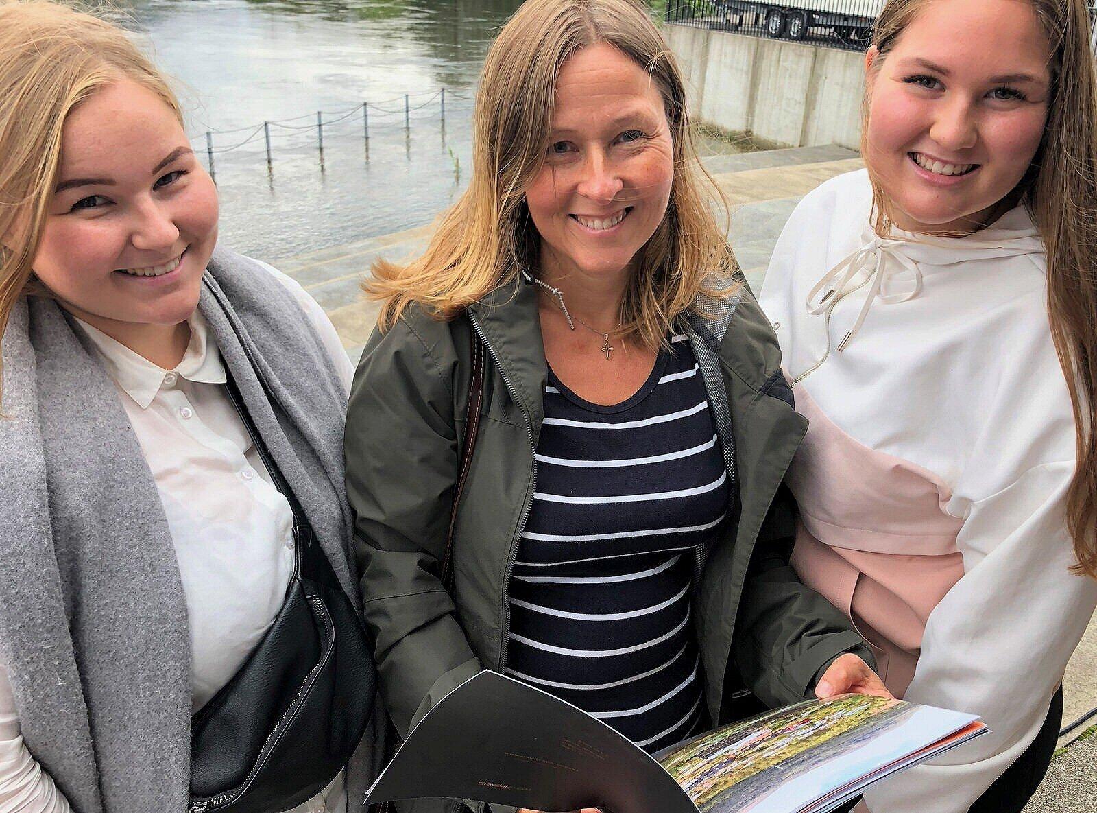 - PERFEKT FOR EIN: Anja (t.v.) , Linda og Malin Birkeland har sans for studioleilegheitene.