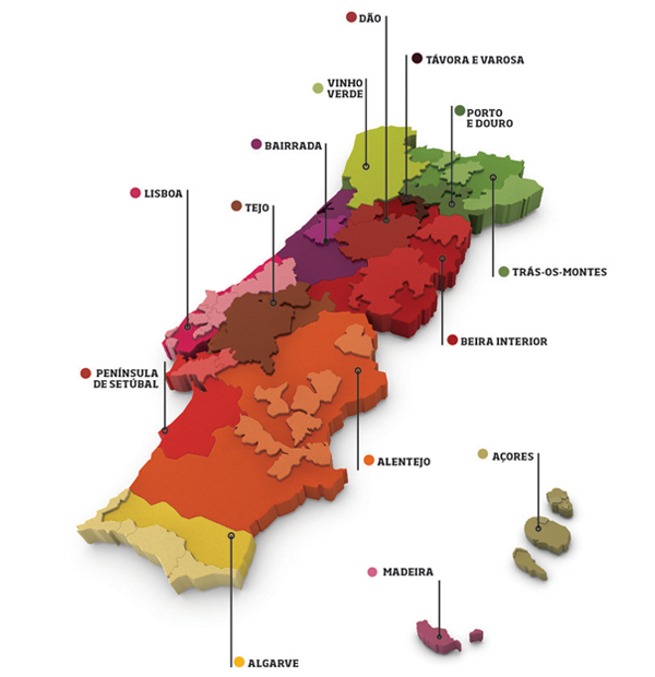 Map courtesy of Wines of Portugal