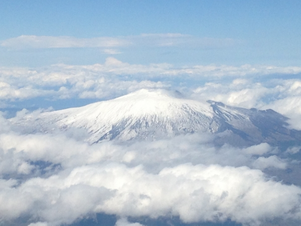 Mt. Etna, seen from 30,000'. Squint really hard and maybe you'll see a Cyclops!