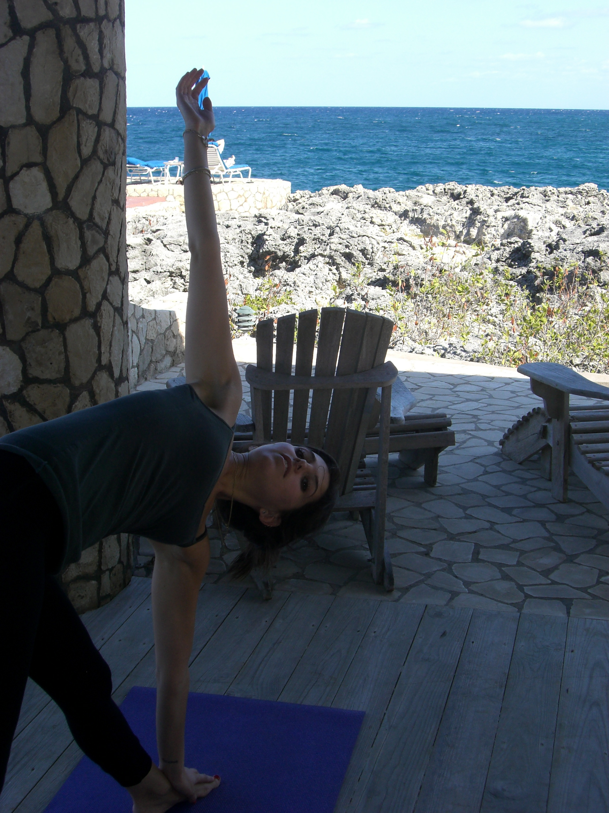 Love Life and Lollipops- Uktanasana by the Shore