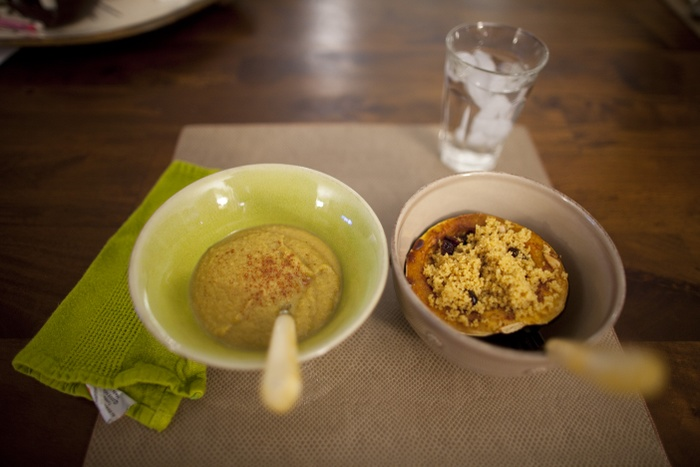 Love Life and Lollipops- Vegan Curried Cauliflower Soup and Moroccan Couscous and Acorn Squash