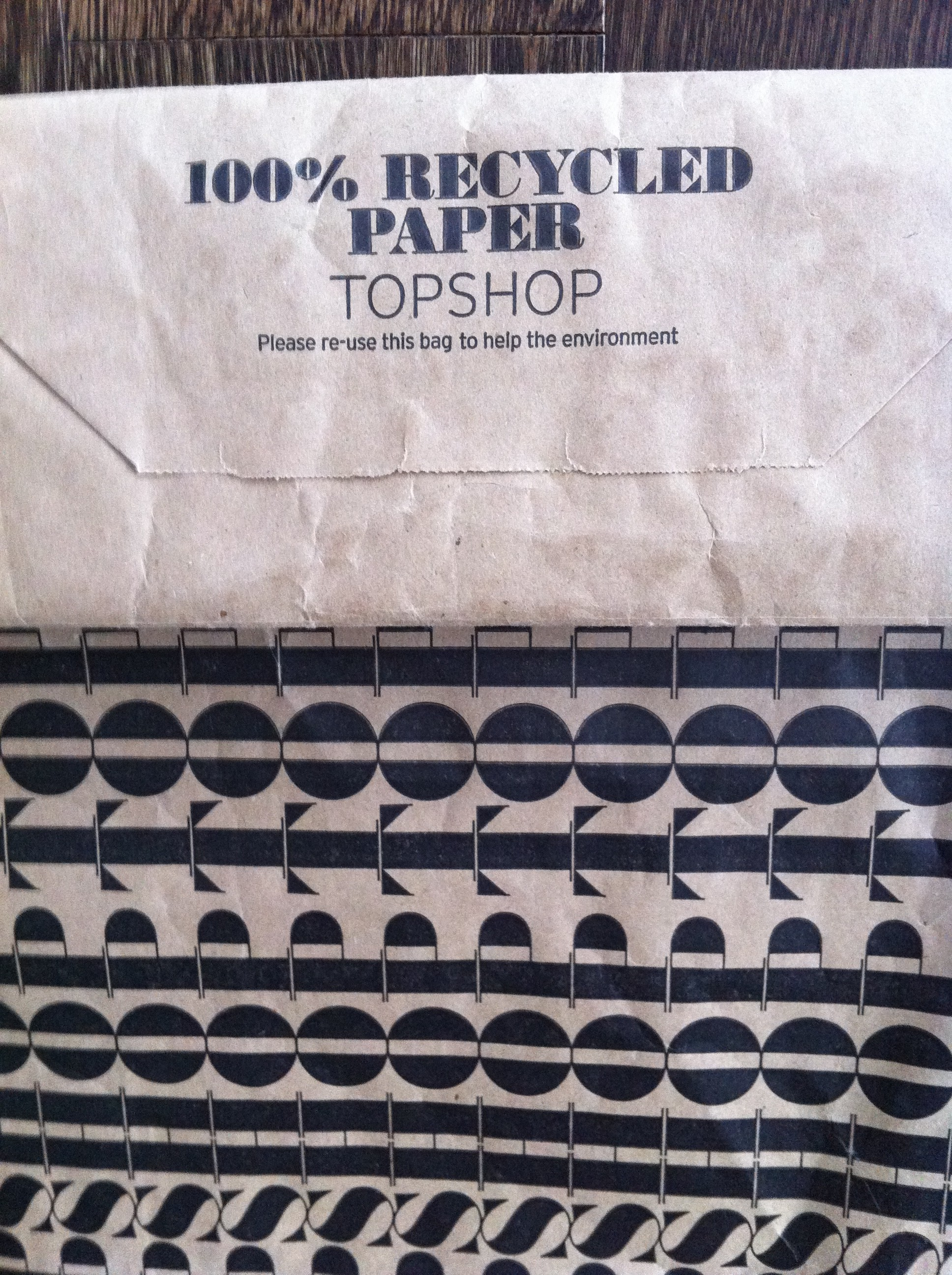 Love Life and Lollipops- Topshop Recycled Paper Shopping Bag