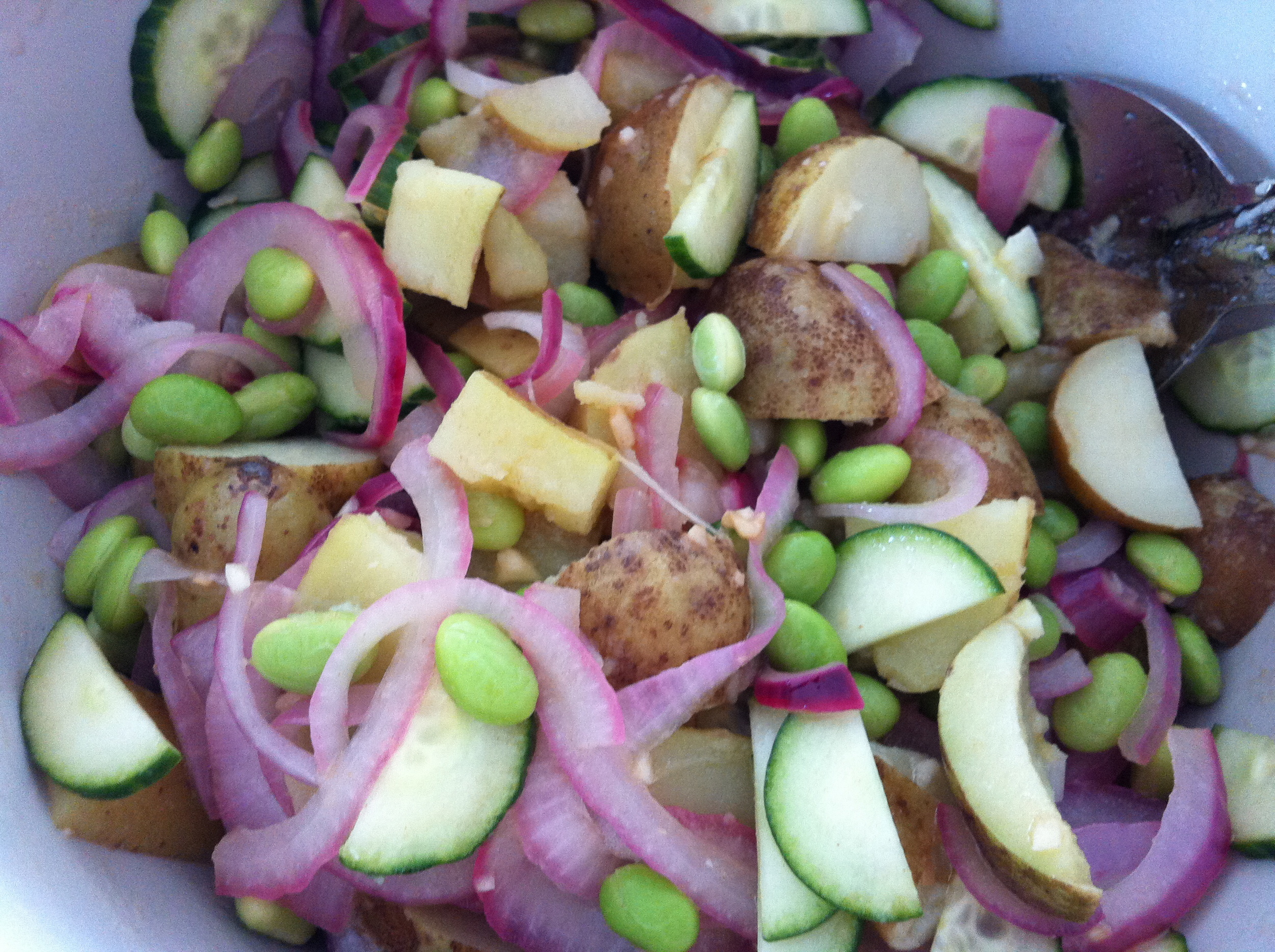 Love Life and Lollipops- Warm Potato and Soybean Salad