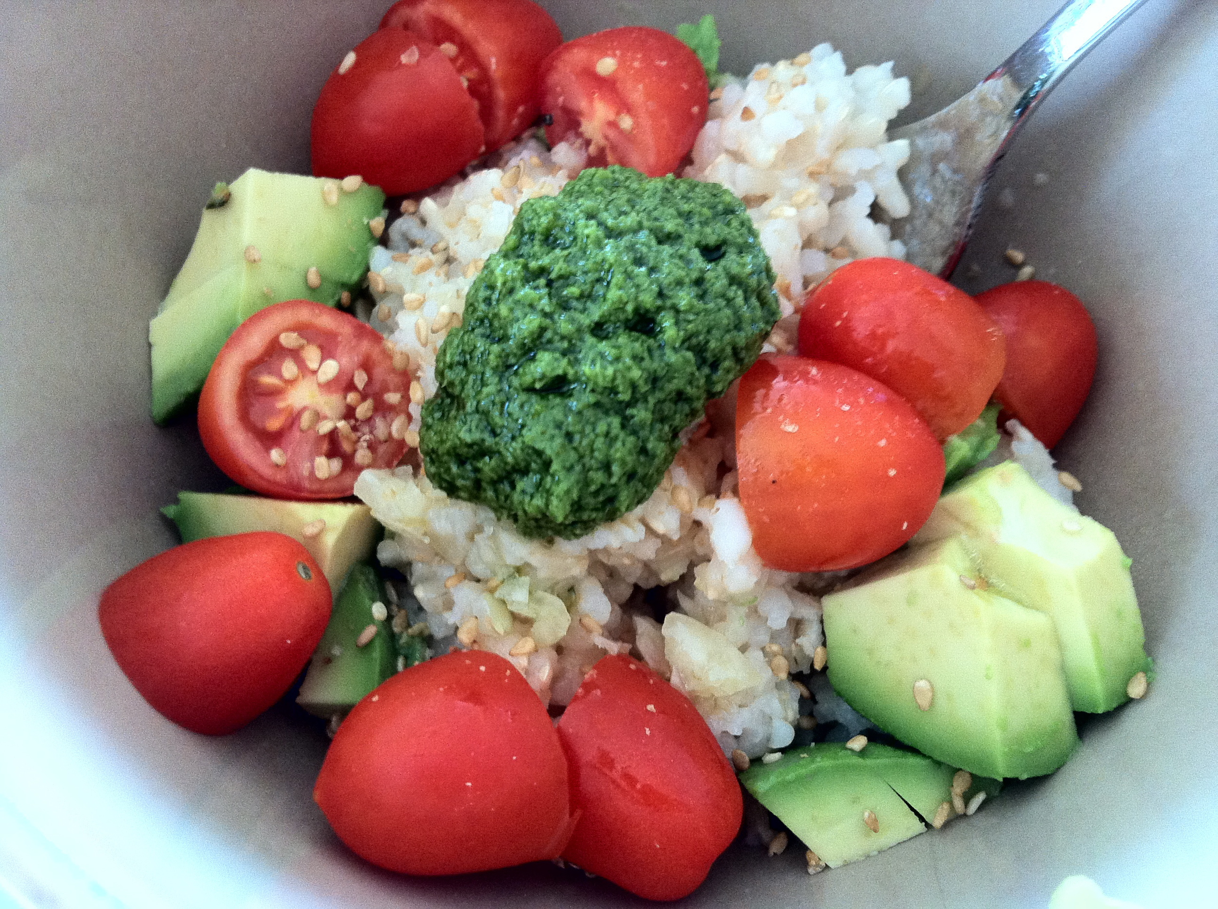 Love Life and Lollipops- Brown Rice with Pesto Dinner