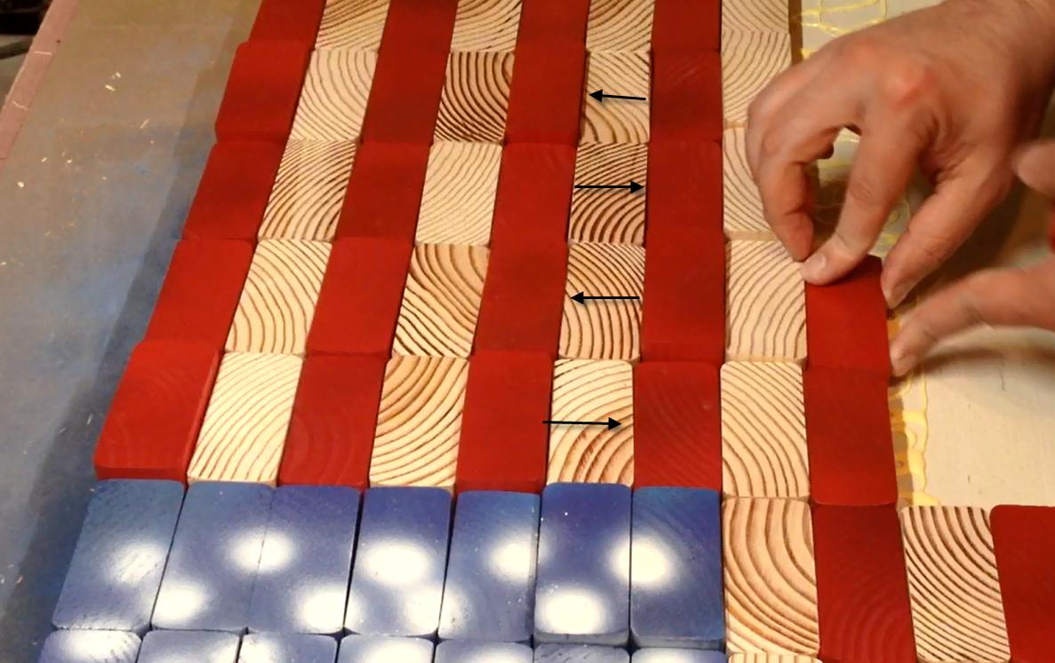 Alternating grain patterns