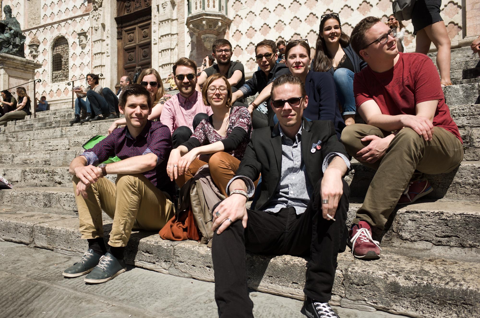 Voilà, Versuch Nummer 2. Die JJS-Perugia-Crew.