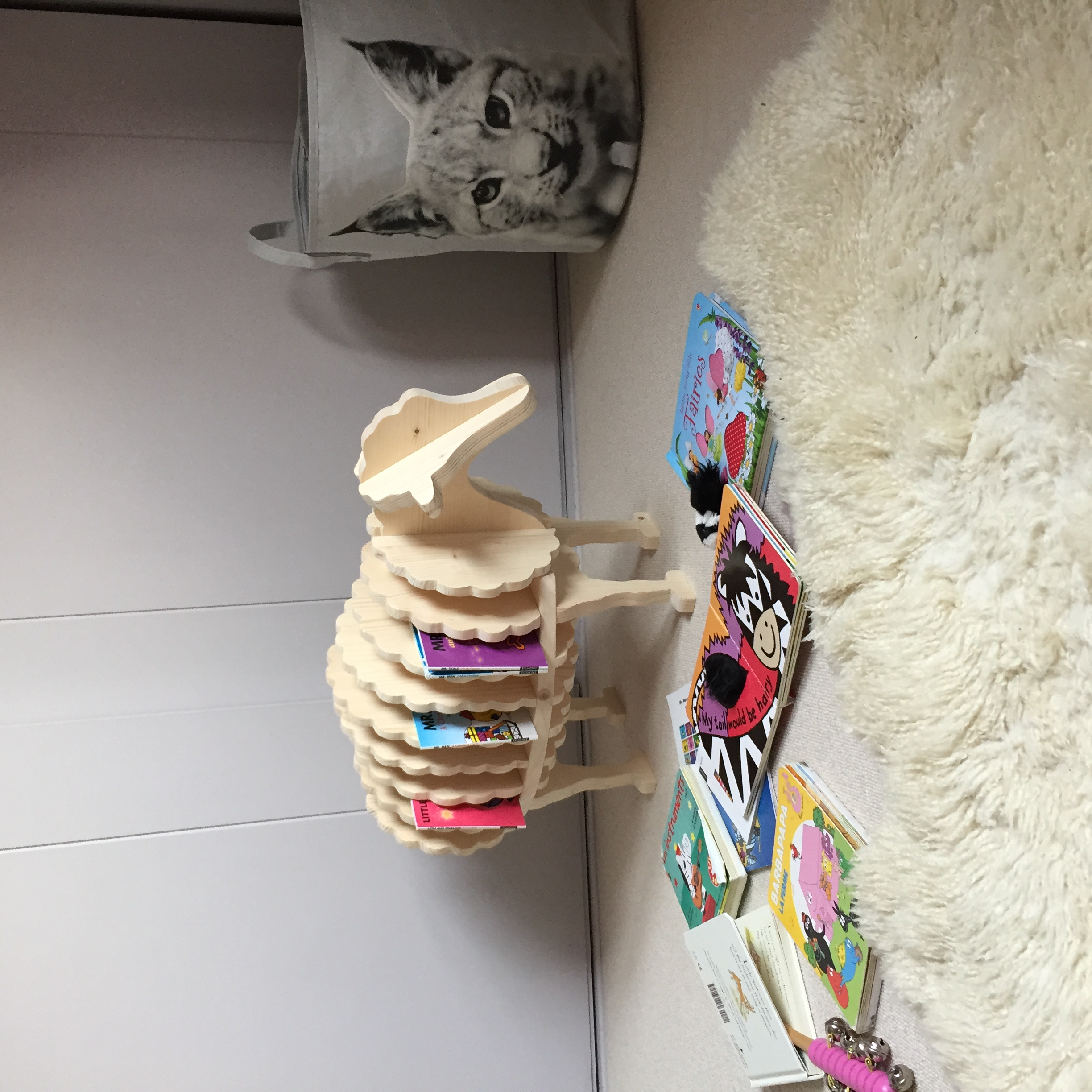 The Baa Baa bookshelf in action in Stella's nursery