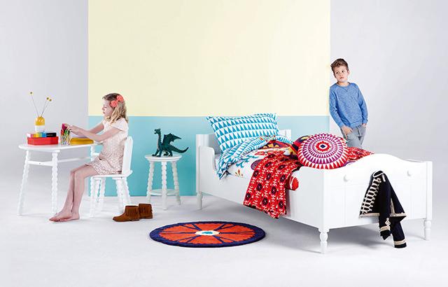 Cara Desk, £179 | Cara Chair, £69 | Cara Night Stand, £49 | Folk Rug, £49 | Cara Single Bed, £299