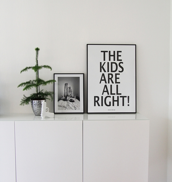 Miniwilla's poster 'The Kids Are All Right - And So Are We' is available from Cissy Wears