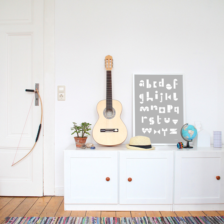 Snug Studio's ABC poster available from This Modern Life.