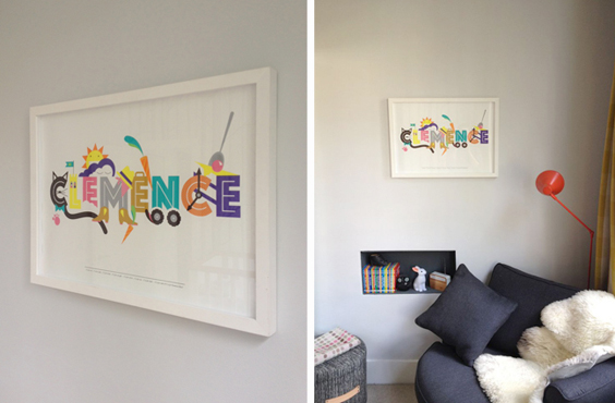 An example of a bespoke project created by Nursery Names