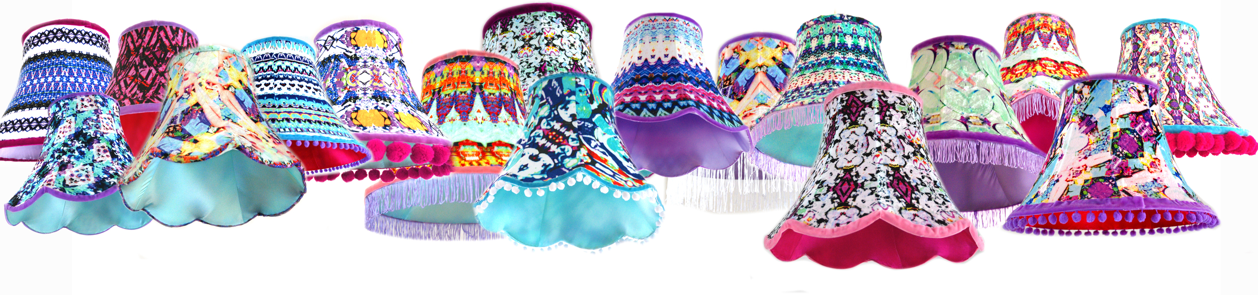 Fabulous handmade lampshade designs by Archie Mac London.