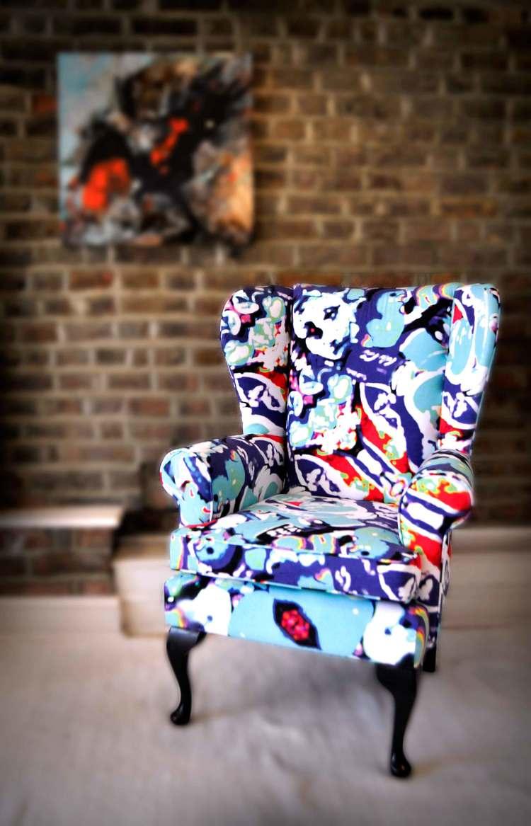 Ducks & Beans wingback armchair, £995.