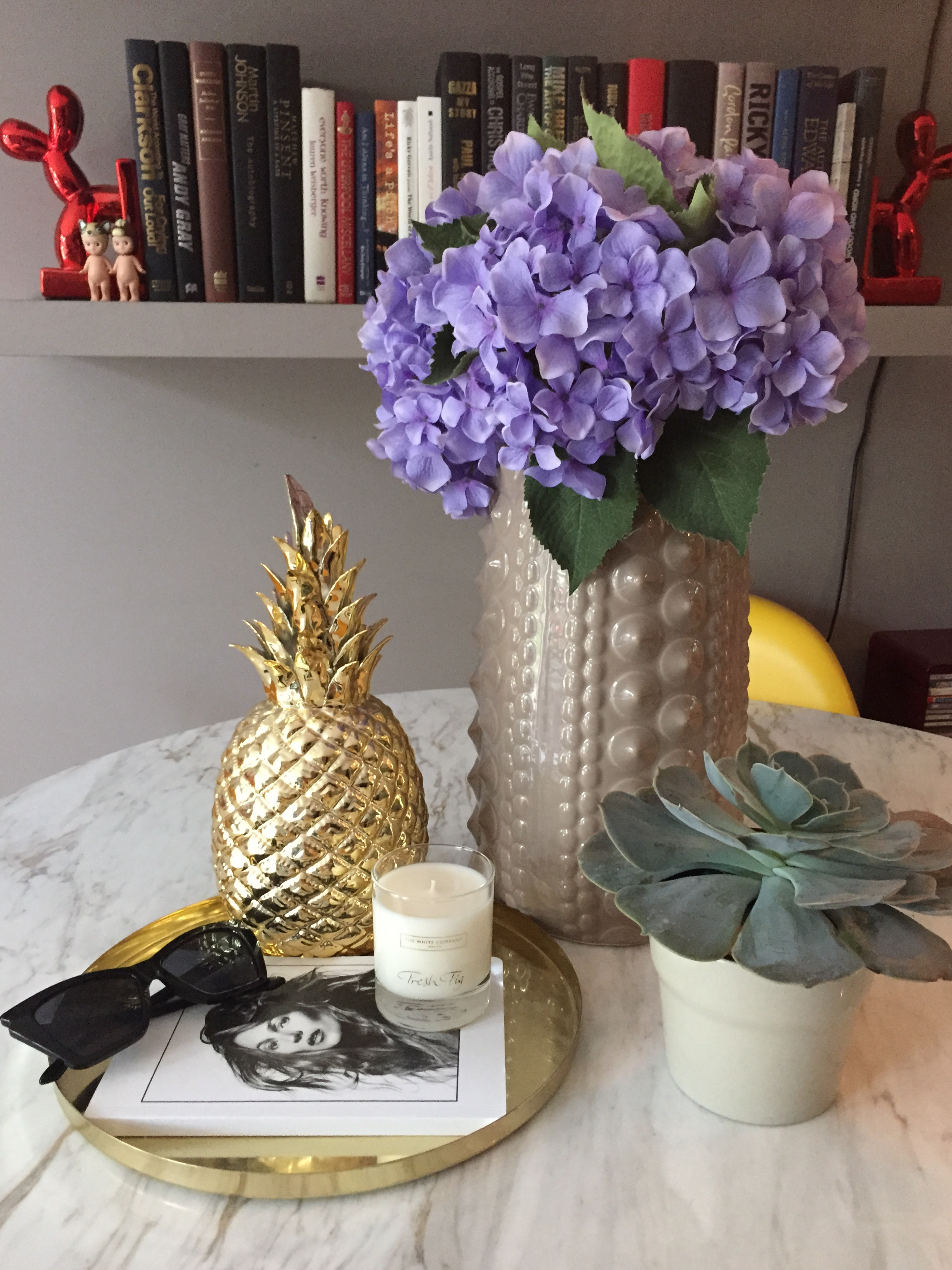 The new addition to the Stella + the Stars team, styled in our dining room...