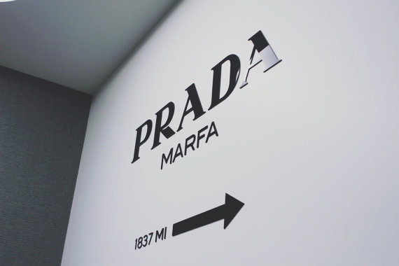 Prada marfa sign from  acryletters on etsy