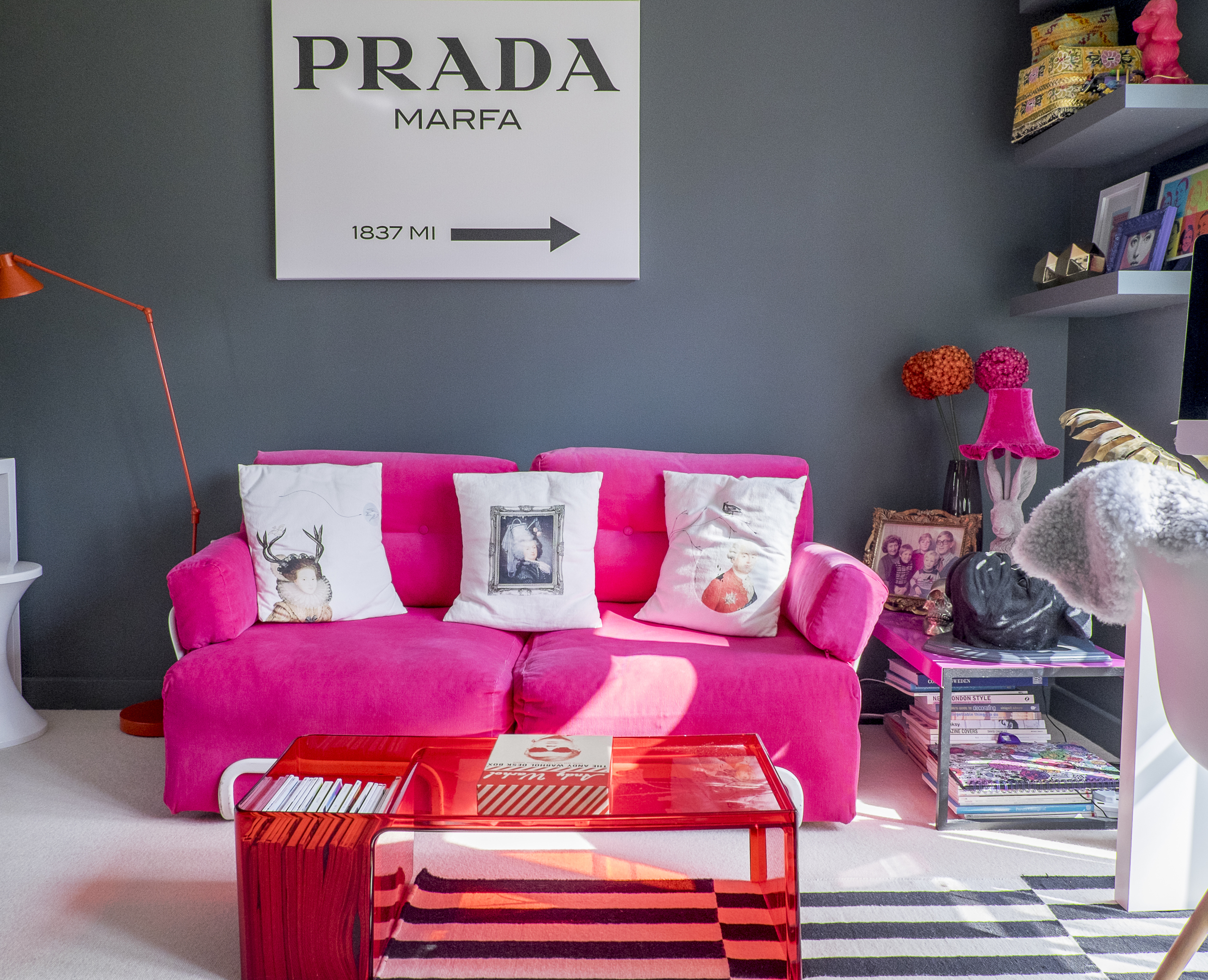 STELLA + THE STARS' OWN PRADA MARFA ART PRINT TAKING CENTRE STAGE IN MY HOME OFFICE