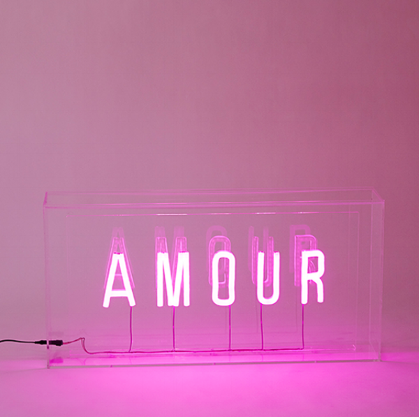 Stella + the Stars is all over this 'if money was not object'  Amour neon lightbox by BXXLGHT. ..
