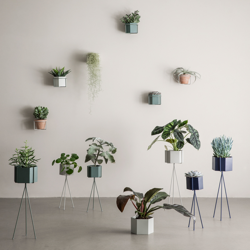 These iron plant stands from Ferm Living will brighten up any space. Available from  Nook Concept