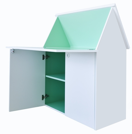 The  Secret Study  is a clever compact and versatile desk that can be folded to look like a mini house..
