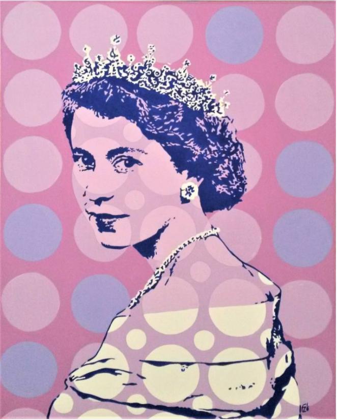 'Young Queen Elizabeth' by Italian artist Franco Zulian ticks all my colourful pop-art boxes...