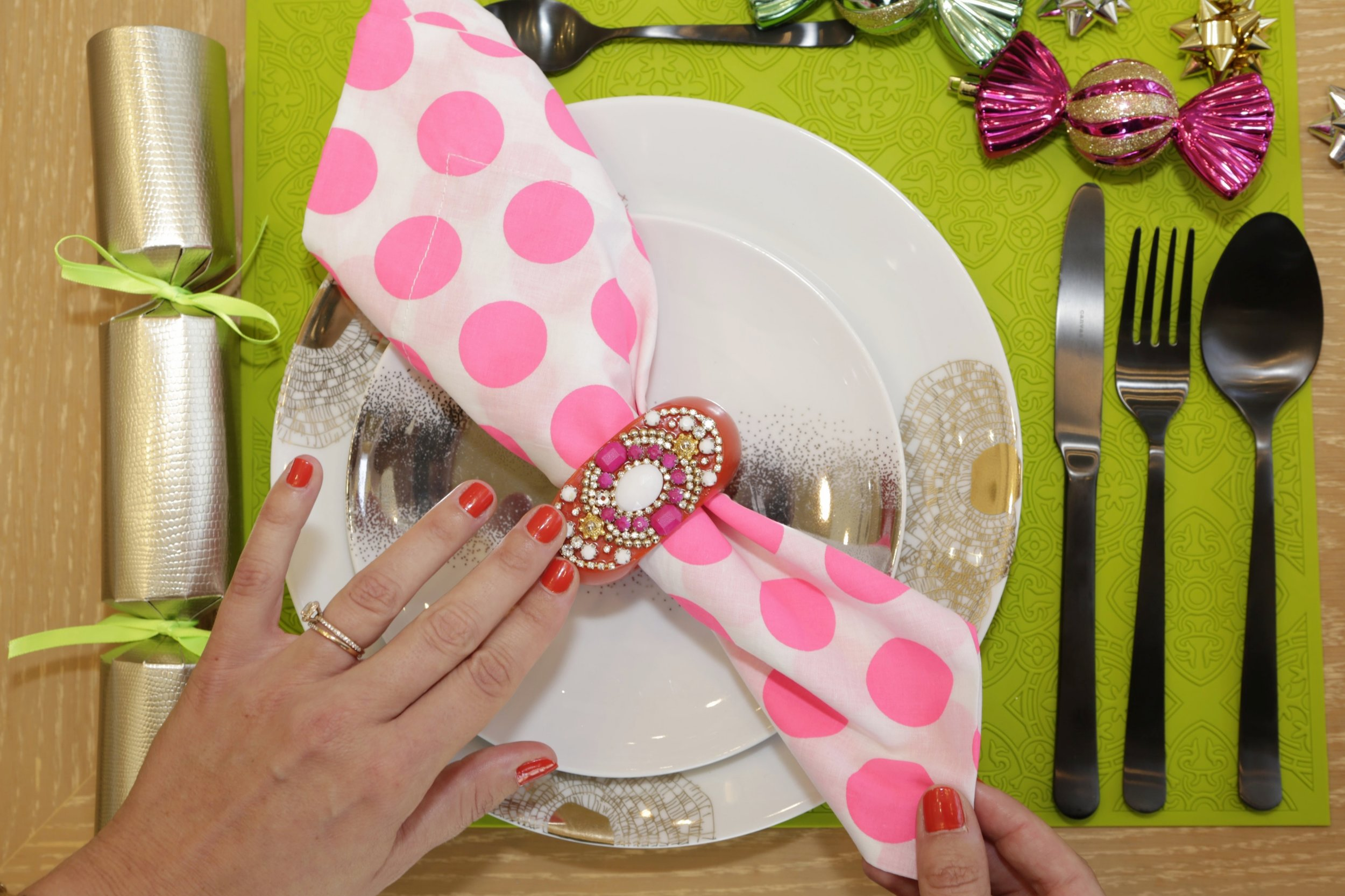 Breaking all the traditional rules of table styling (including the position of the knife?!?)