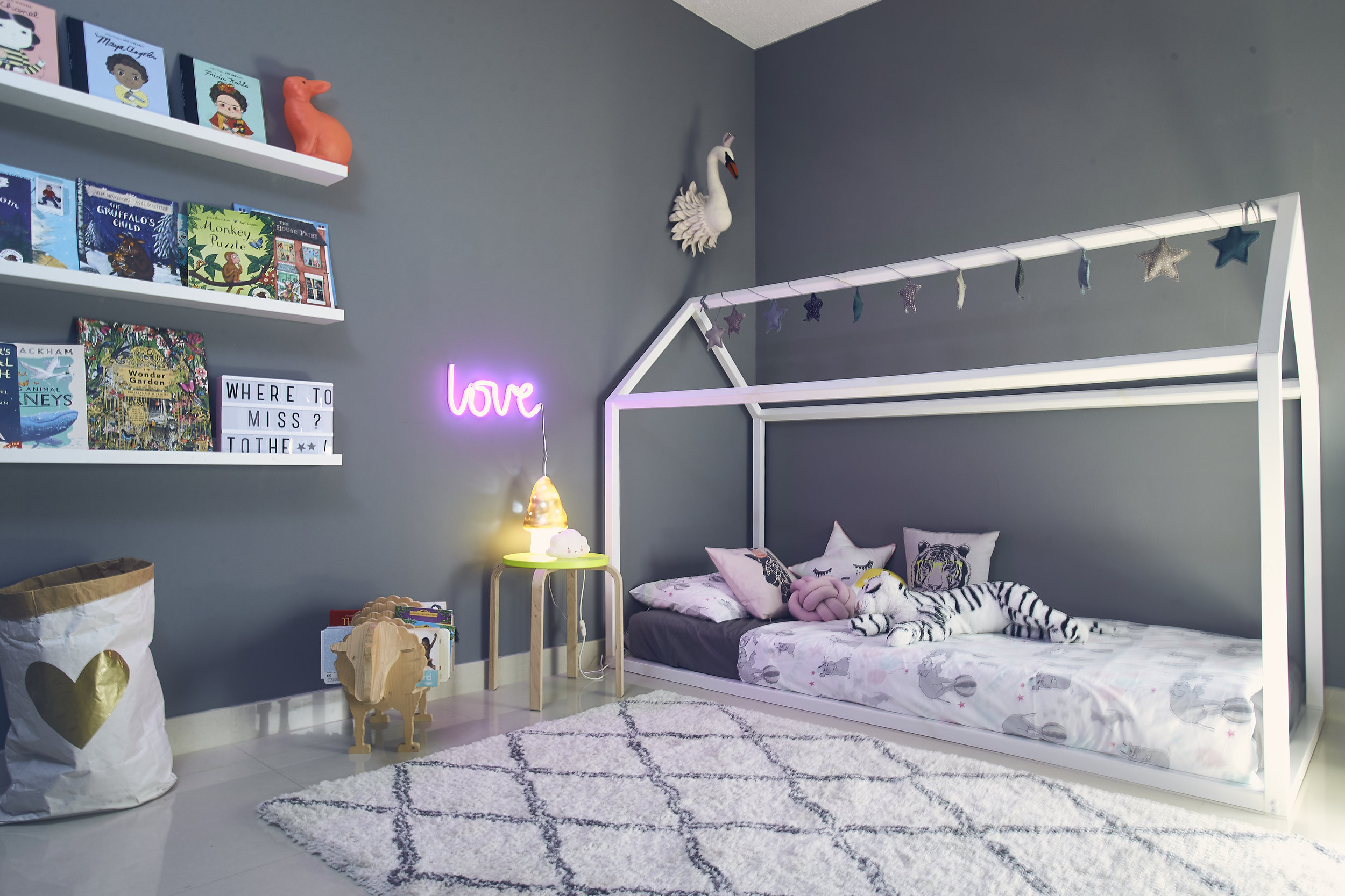 Stella's 'side' of the kids room. Photo credit: Aiza Domingo for  Baby & Child Magazine