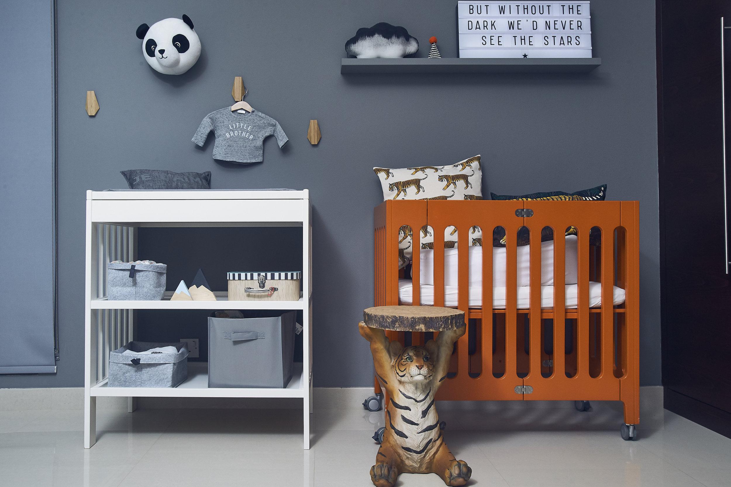 The baby station…! Photo credit: Aiza Domingo for  Baby & Child Magazine