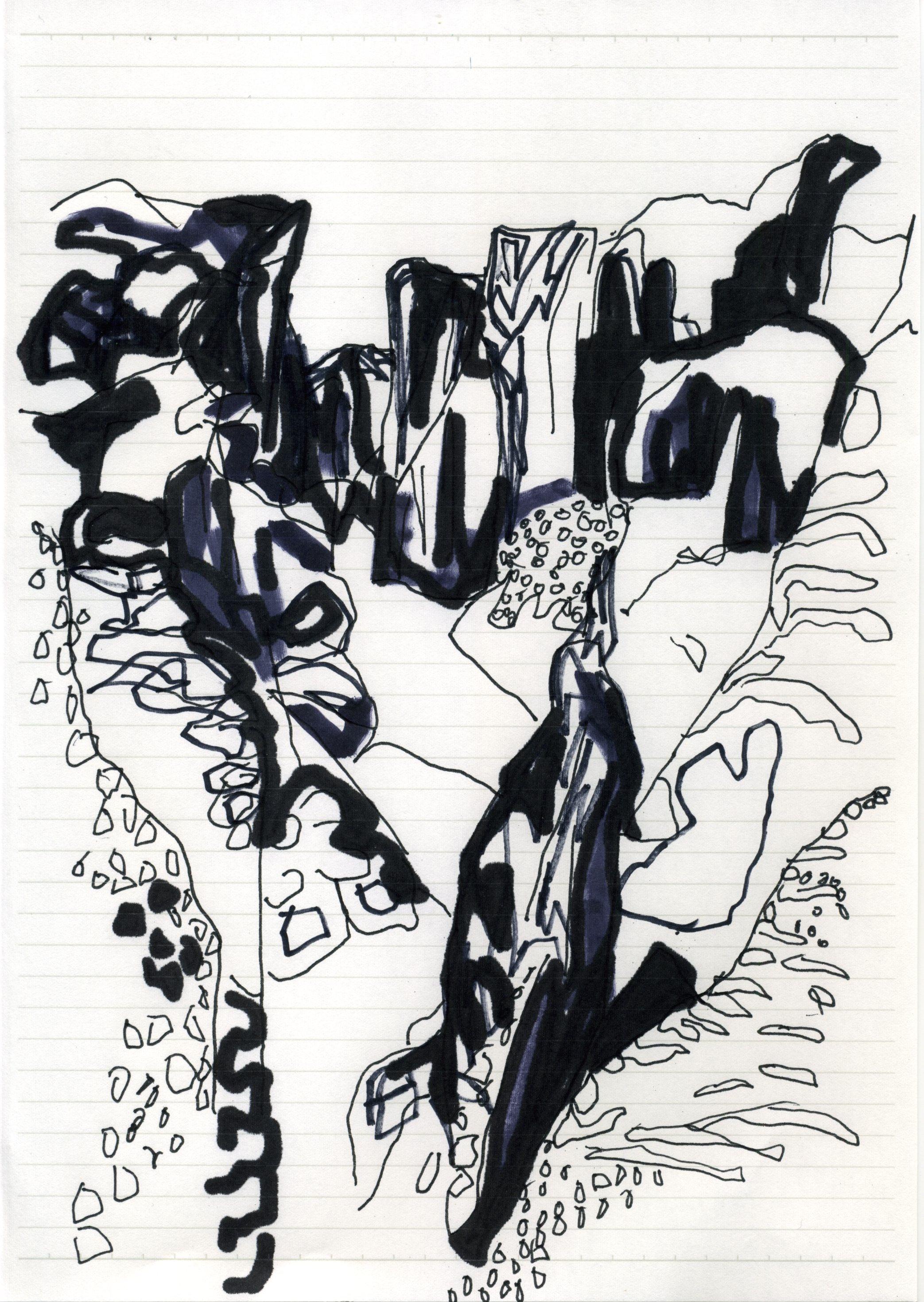 Gullfoss drawing