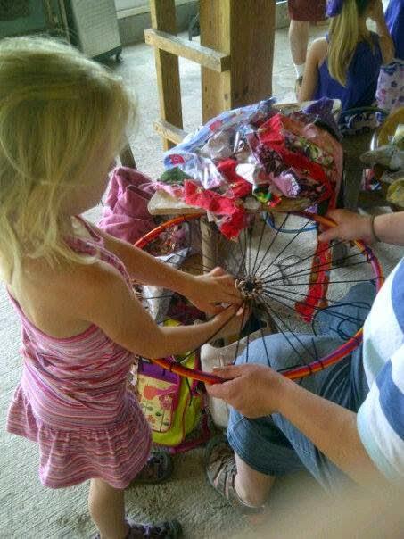 Children's weaving workshop hosted by Alyssa Curley at last year's Summerfest.