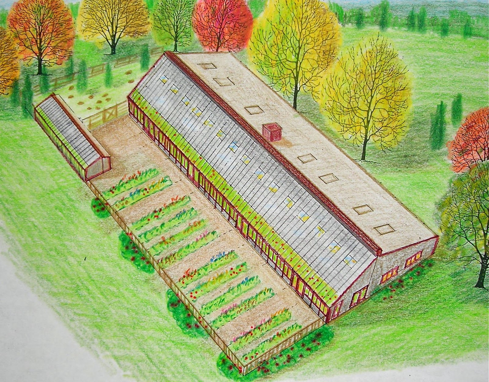 Imagine: schools utilizing greenhouses and passive solar, thereby involving students in their food choices and energy needs. These designs from the  Solviva website .