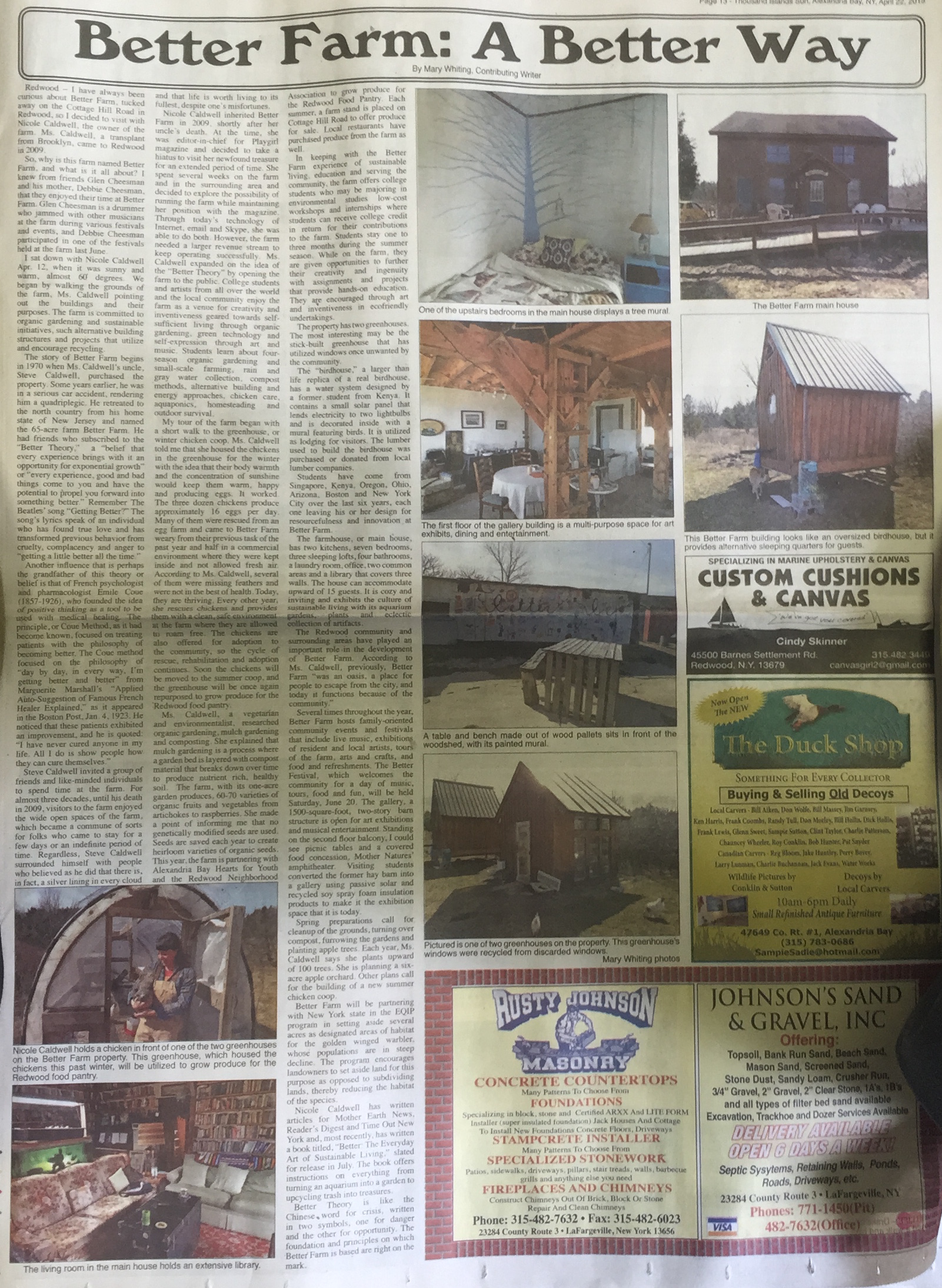 Article and photos by  Mary Whiting for the Thousand Islands Sun.