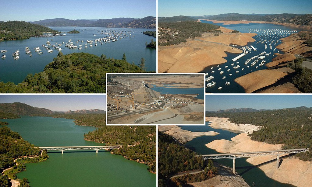 Before-andAfter: California's drought. Image from  Gunsbase