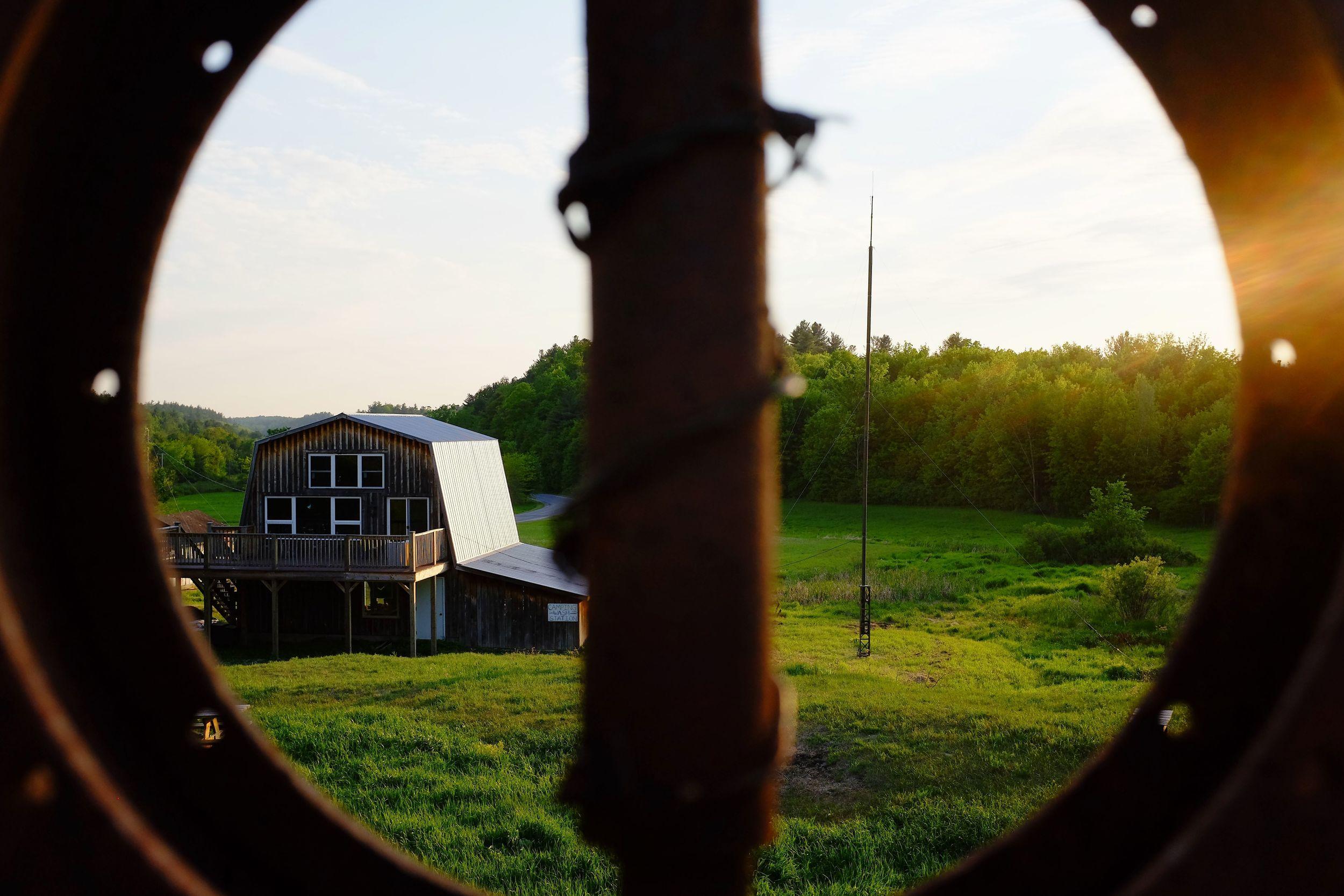 View of Better Radio's tower. Photo/Lee Runge