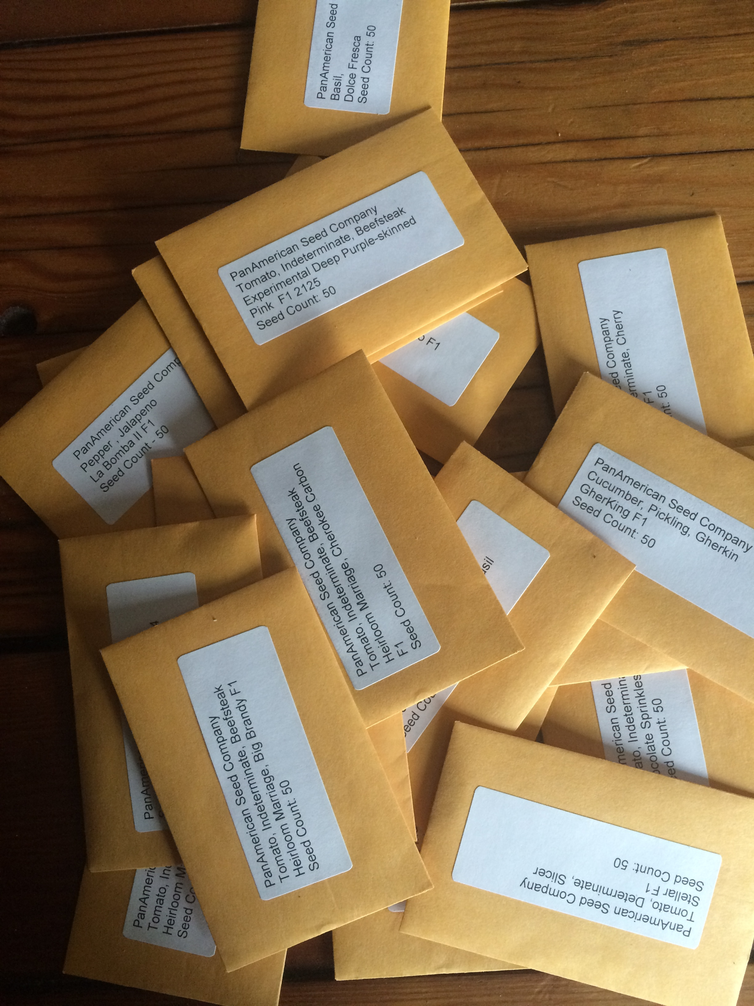 Seed packets from PanAmerican have arrived!